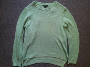 My oversized, green sweater.